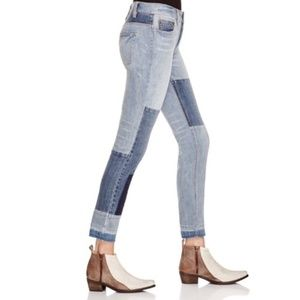 Free People Skinny Crop Patched and Fraying Hem 26